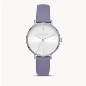 NEW Michael Kors leather lavender watch